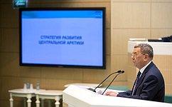 Глава Сибирского научно-аналитического центра А.Брехунцов выступил назаседании СФ врамках «времени эксперта»