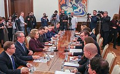 Состоялась встреча Председателя СФ В.Матвиенко сПрезидентом Республики Сербии А.Вучичем