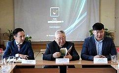 Е. Борисов обсудил вопросы развития малых исредних поселений Якутии