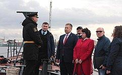 Д. Гусев посетил малый противолодочный корабль «Нарьян-Мар»