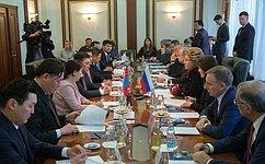 Упарламентского взаимодействия РФ иМонголии большой потенциал— В.Матвиенко