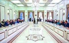 Председатель СФ В.Матвиенко провела встречу сПредседателем Милли Меджлиса Азербайджанской Республики О.Асадовым