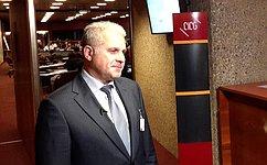 Глава Аппарата СФ С. Мартынов выступил назаседании Ассоциации генеральных секретарей парламентов