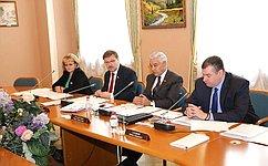 Сенаторы приняли участие вработе комиссий Совета законодателей при Федеральном Собрании России
