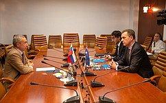 А.Климов провел встречу сЧрезвычайным иПолномочным послом Австралии вРоссии П.Тешем