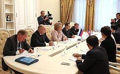 Federation Council Speaker Valentina Matviyenko met with President oftheNational Assembly ofLaos Pany Yathotou