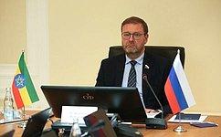Парламентариям России иЭфиопии необходимо активизировать двусторонние контакты— К.Косачев