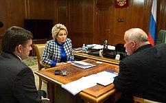 Председатель СФ В.Матвиенко встретилась сгубернатором Костромской области С.Ситниковым