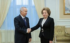 В. Матвиенко: Позиции России иУзбекистана поосновным международным вопросам близки или совпадают