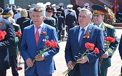 В.Озеров принял участие вторжественных мероприятиях посвященных 72-й годовщине Великой Победы