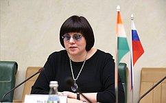 Е. Афанасьева: ВСовете Федерации отмечают активность российско-индийского межпарламентского диалога ивыступают заего дальнейшее развитие