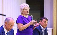Л.Антонова побывала напредприятиях исоциальных учреждениях Раменского района Подмосковья