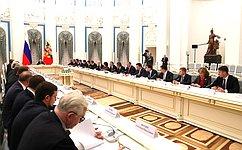 В. Матвиенко приняла участие взаседании Совета при Президенте постратегическому развитию иприоритетным проектам