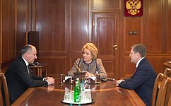 В. Матвиенко провела встречу сглавой Карачаево-Черкесской Республики Р.Темрезовым