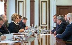 Состоялась встреча Председателя СФ спредставителями Парламента Республики Южная Осетия