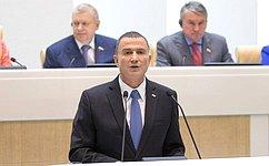 Перед сенаторами выступил Председатель Кнессета Израиля Ю.Эдельштейн