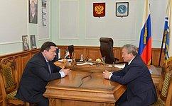 В. Полетаев встретился сруководителями ипредставителями органов власти Республики Алтай