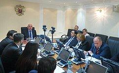 Сенаторы обсудили реализацию постановлений СФ, принятых поитогам Дней субъектов Федерации