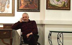 Поинициативе Вадима Харлова вСовете Федерации открылась выставка картин выдающегося ульяновского художника Евгения Шибанова
