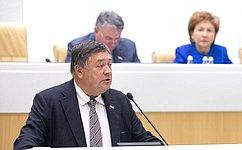 С.Калашников представил отчет оработе Временной комиссии Совета Федерации помониторингу экономического развития
