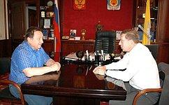 А. Майоров посетил Республику Калмыкия