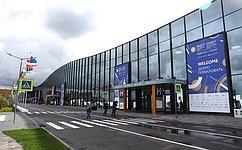 Делегация СФ воглаве сВ.Матвиенко принимает участие вXXI Петербургском международном экономическом форуме