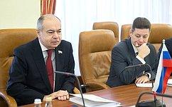 И. Умаханов: Совет Федерации активно сотрудничает сМеджлисом Туркменистана