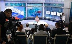 В. Матвиенко провела пресс-конференцию для журналистов поитогам работы Совета Федерации впериод весенней сессии 2018года