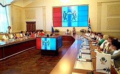 Н.Болтенко провела встречу председателей женских советов муниципальных районов Новосибирской области иНовосибирска