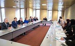 Председатель СФ В.Матвиенко провела встречу сПредседателем Федерального национального совета ОАЭ Амаль А.Аль-Кубейси