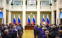 В.Матвиенко: Надо законодательно закрепить место национальных проектов вобщей системе стратегического планирования