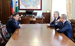 В.Полетаев встретился сГубернатором Новосибирской области А.Травниковым