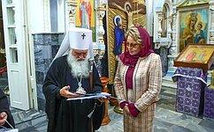 В.Матвиенко посетила вТашкенте Собор Успения Божией Матери, осмотрела мемориальные икультурные объекты Бухары
