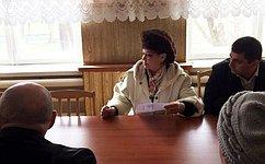 В. Петренко посетила пострадавшее отпожаров село Краснополье вХакасии ивстретилась счленами штаба повосстановлению региона