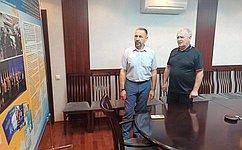 О. Алексеев входе поездки вСаратовскую область посетил Российский научно-исследовательский противочумный институт «Микроб»