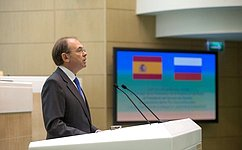 Испания всегда придавала первостепенное значение отношениям сРоссией, заявил Председатель Сената испанского парламента