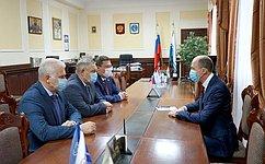 Состоялась встреча сенаторов сГлавой Республики Алтай О. Хорохординым