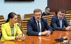 К. Косачев провел встречу сжурналистами ведущих СМИ Абхазии иЮжной Осетии