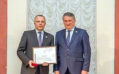 Ю. Воробьев поздравил депутатов Заксобрания Вологодской области с25-летней годовщиной регионального парламента