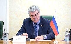 В. Бондарев провел встречу сделегацией Центра высших военных исследований Французской Республики