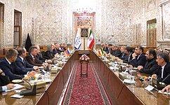 Визит делегации Совета Федерации воглаве сВ.Матвиенко вИран