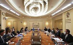 Председатель СФ В.Матвиенко провела встречу сПредседателем ПАСЕ Х.Дамсом