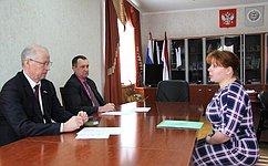 Н.Петрушкин провел прием граждан вЧамзинском муниципальном районе Республики Мордовия