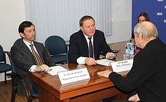М. Кавджарадзе провел прием граждан вЛипецкой области