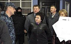 Е. Бибикова посетила исправительную колонию вПсковской области