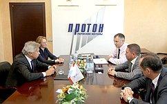 А. Пушков посетил одно изведущих предприятий российской космической отрасли