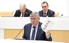 В.Рязанский представил отчет оработе Комитета СФ посоциальной политике за2019год