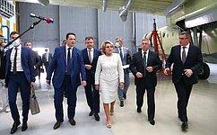 В. Матвиенко посетила Таганрогский авиационный научно-технический комплекс им. Г.М. Бериева