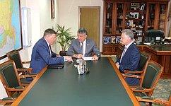 Ю.Воробьев встретился сгубернатором Вологодской области иглавой Вытегорского района