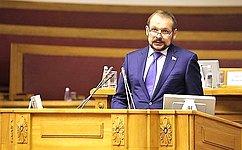 С. Белоусов выступил напленарном заседании межпарламентской ассамблеи стран СНГ